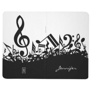 Notas musicales adaptables cuadernos grapados