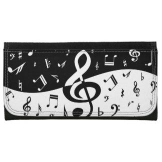 Notas musicales al azar elegantes en blanco y