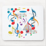 Notas musicales alfombrilla de ratón