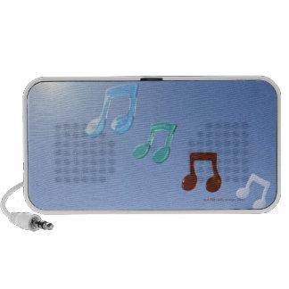 Notas musicales laptop altavoz