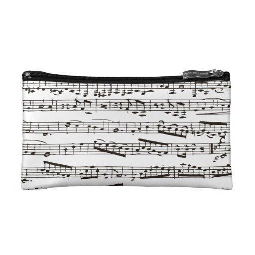 Notas musicales blancos y negros
