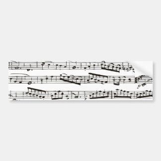 Notas musicales blancos y negros pegatina para auto