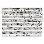 Notas musicales blancos y negros felicitaciones