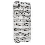 Notas musicales blancos y negros iPhone 3 protector