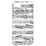 Notas musicales blancos y negros iPhone 5 protectores