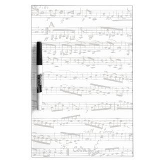 Notas musicales blancos y negros pizarras blancas