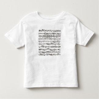Notas musicales blancos y negros poleras