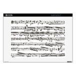 Notas musicales blancos y negros calcomanía para 38,1cm portátil