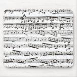 Notas musicales blancos y negros alfombrilla de ratones