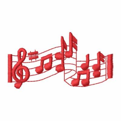 Notas musicales polo bordado