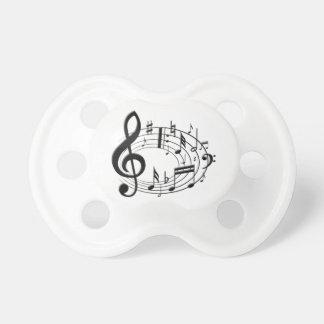 Notas musicales chupetes para bebes