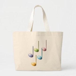 Notas musicales coloridas bolsas