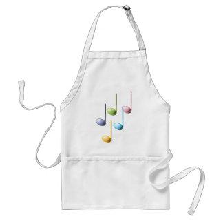 Notas musicales coloridas delantal