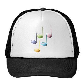 Notas musicales coloridas gorros bordados