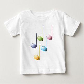 Notas musicales coloridas playera para bebé