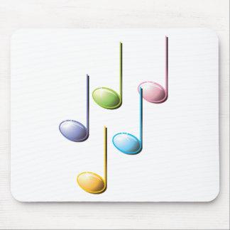 Notas musicales coloridas tapete de ratones