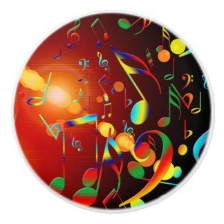 Notas musicales de baile pomo de cerámica