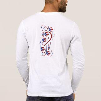 Notas musicales de la bandera de Puerto Rico Camisetas
