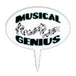 Notas musicales de la música del genio figuras para tartas
