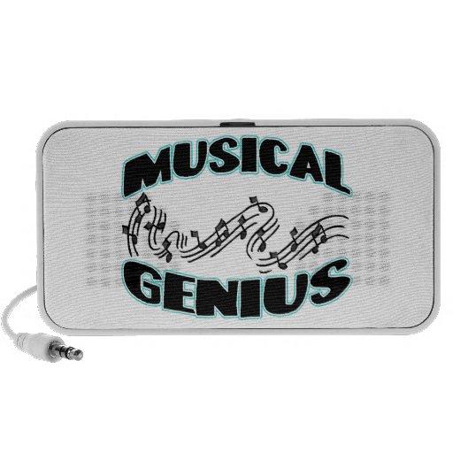 Notas musicales de la música del genio laptop altavoces