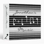 Notas musicales de las cerdas personalizadas