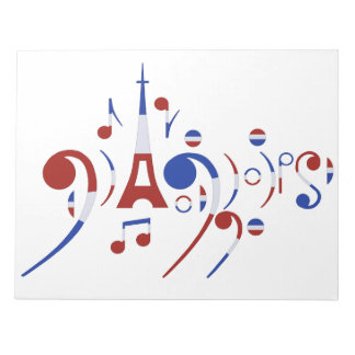 Notas musicales de París Bloc
