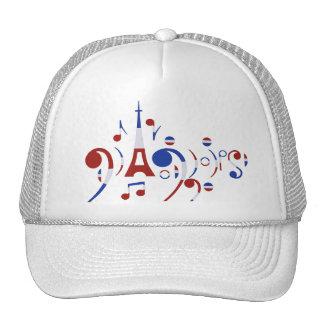 Notas musicales de París Gorra