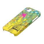 Notas musicales del árbol del color brillante capr iPhone 5 Case-Mate coberturas