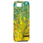 Notas musicales del árbol del color brillante capr iPhone 5 Case-Mate fundas
