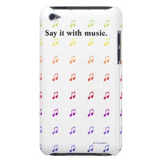 Notas musicales del arco iris Case-Mate iPod touch carcasas