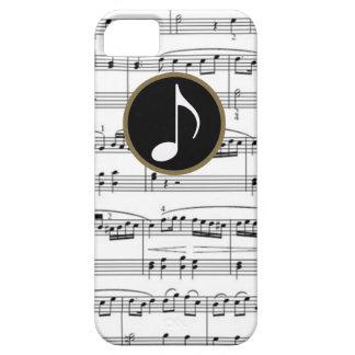 notas musicales del b&w iPhone 5 carcasa