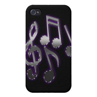 notas musicales del caso del iPhone 4G iPhone 4 Coberturas