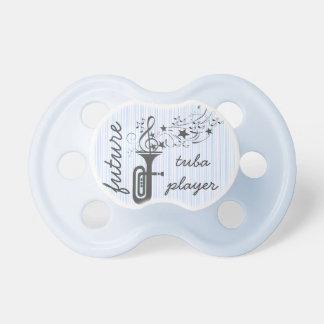 Notas musicales del viento de la tuba - azul chupetes para bebés