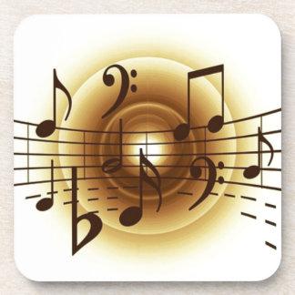 Notas musicales elegantes posavasos de bebida