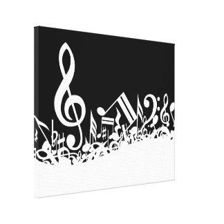 Notas musicales embarulladas
