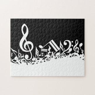Notas musicales embarulladas puzzles