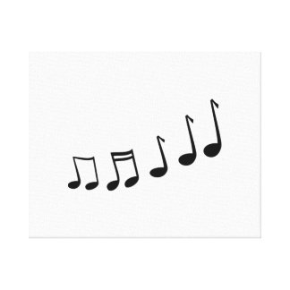 Notas musicales impresion de lienzo