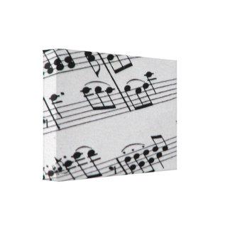 Notas musicales impresión de lienzo