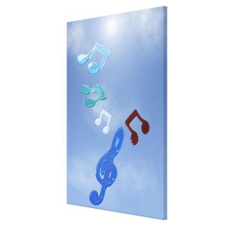 Notas musicales impresión en lona