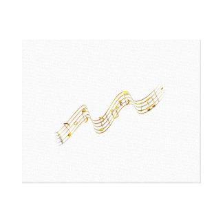 Notas musicales impresiones en lienzo estiradas