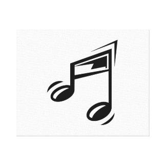 Notas musicales impresiones en lona