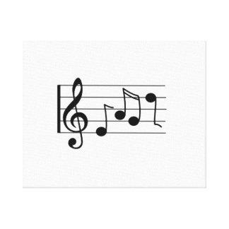 Notas musicales lienzo envuelto para galerias