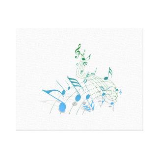 Notas musicales lona estirada galerías