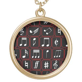 Notas musicales modernas en blanco con la frontera joyerias personalizadas