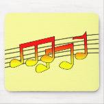 Notas musicales Mousepad Alfombrillas De Ratones