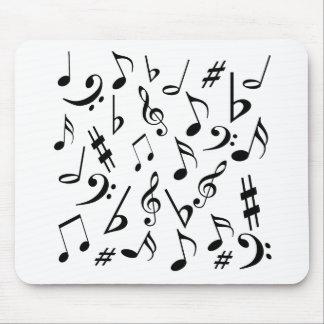 Notas musicales Mousepad - blanco y negro Tapetes De Ratones