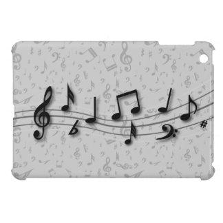Notas musicales negras y grises