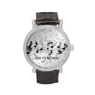 Notas musicales negras y grises personalizadas