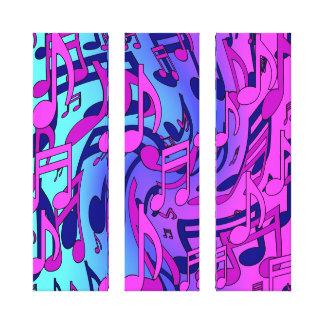 Notas musicales optimistas coloridas de la música impresión en lona