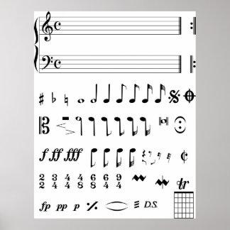 Notas musicales impresiones
